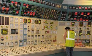 Simulateur de la salle de commandement d'un réacteur de la centrale nucléaire de Fessenheim. (Archives)