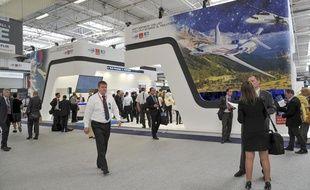 Le stand du pôle Aerospace Valley au salon du Bourget, le 18 juin 2013.
