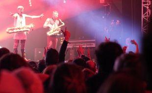 Les Trans Musicales de Rennes en 2016. Le public devant Lucky Chops.