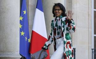 La journaliste Audrey Pulvar le 21 avril 2017, au palais de l'Elysée, à Paris.