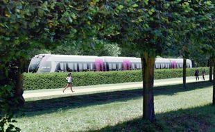 Un tram-train desservira Saint-Germain-en-Laye (Illustration)
