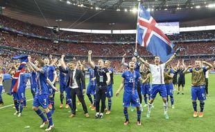 Les Islandais après leur qualification