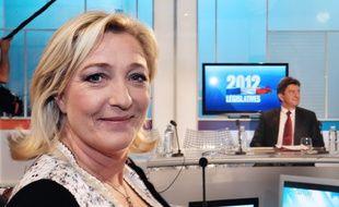 Marine Le Pen face à Jean-Luc Mélenchon (archives).