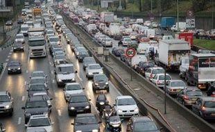 Embouteillages sur le périphérique parisien, le 20 novembre 2007.