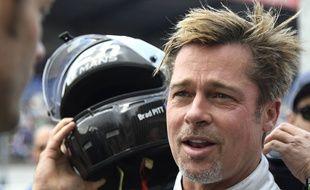 Brad Pitt aux 24h du Mans le 18 juin 2016.