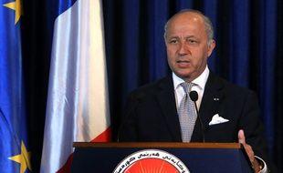 Laurent Fabius, ministre des Affaires étrangères, le 10 août 2014 à Erbil, en Irak.