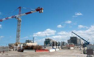 Le chantier du terminal méthanier de Dunkerque en juillet
