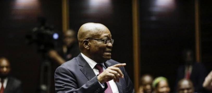L'ex-président sud-africain Jacob Zuma, devant la Haute Cour de Pietermaritzburg (est) le 15 octobre 2019.