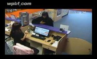Capture écran d'une vidéo d'un braquage avortée en Floride le 23 juillet 2010.