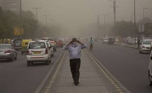 La tempête de sable du 2 mai a frappé New Delhi.