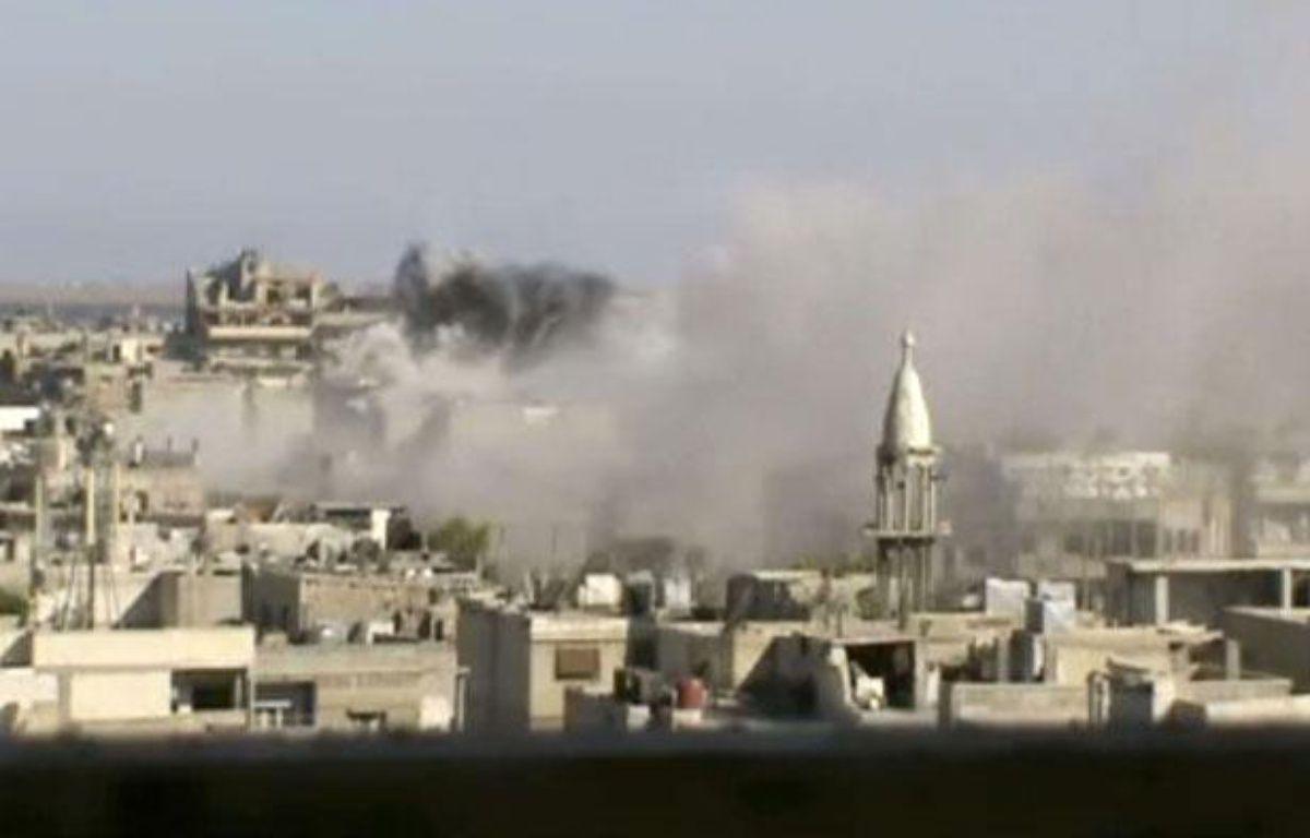 Image tirée d'une vidéo d'amateur, montrant des explosions dans la région de Homs, le 8 juin 2012 – Anonymous/AP/SIPA
