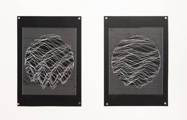 Dans son exposition Lignes, l'artiste bordelais Julien Gachadoat montre ses oeuvres d'art créées par algorithmes