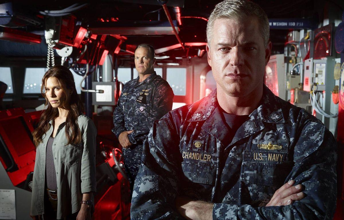 Rhona Mitra, Adam Baldwin et Eric Dane dans The Last Ship. – WARNER BROS INTERNATIONAL TELEVI