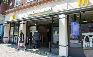 Un McDonald's à sa réouverture
