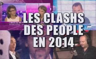 Capture d'écran vidéo 20 Minutes sur les clashs des people en 2014.