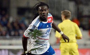 Bafétimbi Gomis lors du match entre Marseille et Lyon le 28 novembre 2012.
