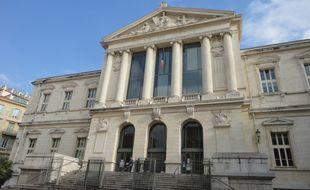 Le palais de justice de Nice ce mercredi après-midi.