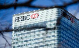 Les bureaux de la banque HSBC, le 15 février 2016 à Londres