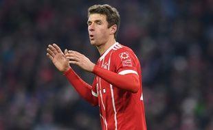 Thomas Müller, lors de Bayern-PSG, le 5 décembre 2017.