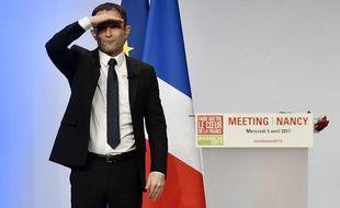 Benoit Hamon candidat a l'election presidentielle pour le parti socialiste en camapgne a Nancy et en meeting au Zenith de Nancy. Nancy, FRANCE -05/04/2017