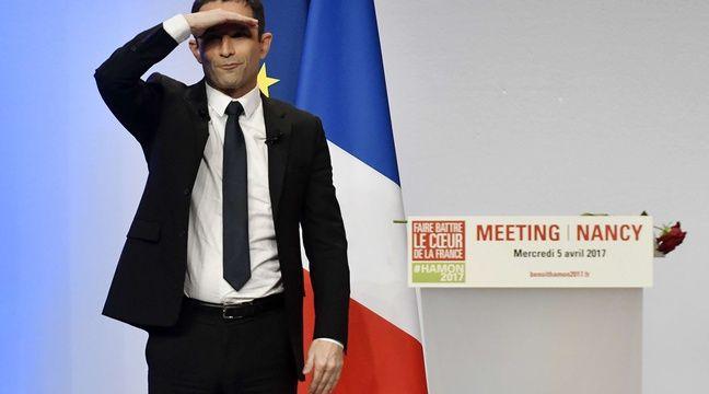 Benoît Hamon candidat à l'élection presidentielle pour le Parti socialiste en campagne  Nancy et en meeting au Zenith de Nancy. Nancy, FRANCE -05/04/2017 –  EMILE POL/SIPA