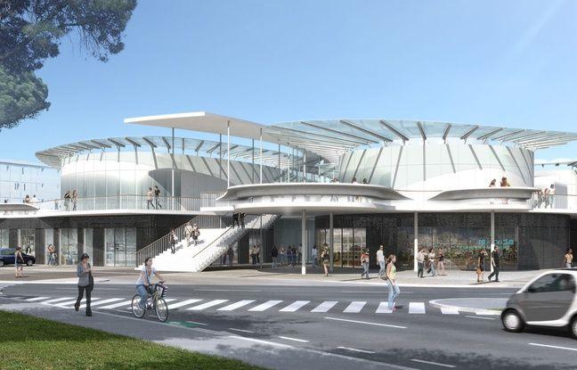 Vue du futur espace multiservices qui doit être livré sur le campus en janvier 2019.