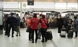 Jour de grève à la SNCF à la gare de Lyon à Paris le 2 juin 2016
