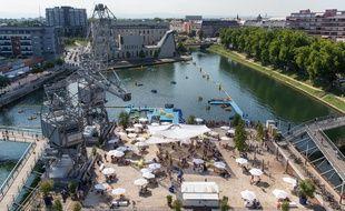 Les Docks d'été à la presqu'île Malraux à Strasbourg.