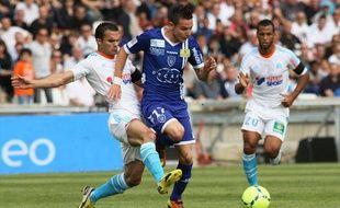 Florian Thauvin sous le maillot de Bastia, le 4 mai 2013 à Marseille.