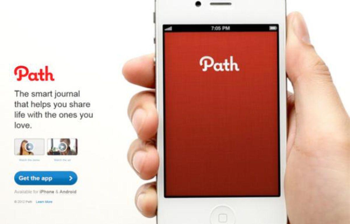 Page officielle de l'application Path. – CAPTURE D'ECRAN/20MINUTES.FR