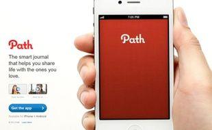Page officielle de l'application Path.