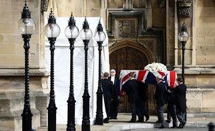 Le corps de Margaret Thatcher a été transféré au Palais de Westminster, le 16 avril 2013