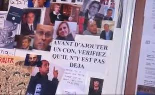 Le «mur des cons», dans un local du Syndicat de la magistrature.
