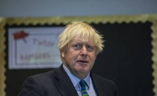 Le Premier ministre britannique Boris Johnson, à Coalville le 26 août 2020.