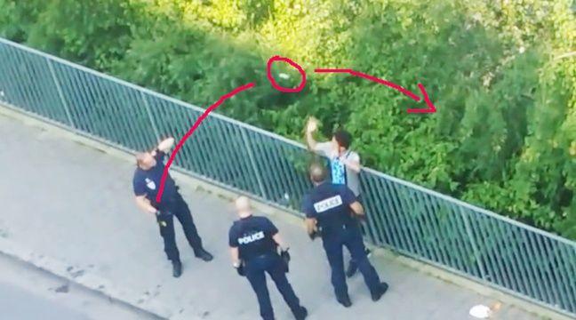 VIDEO. Lille: L'IGPN saisie du cas d'un policier qui balance un portable lors d'un contrôle