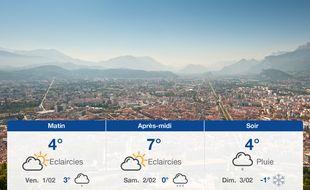Météo Grenoble: Prévisions du jeudi 31 janvier 2019
