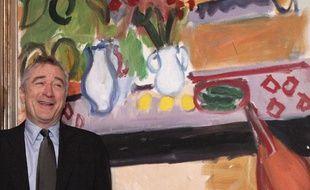 Robert de Niro à l'inauguration de l'exposition de l'oeuvre de son père au Musée Matisse de Nice le 8 mars 2010.