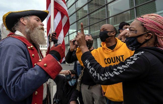 648x415 manifestants pro anti trump detroit 5 novembre 2020 devant centre tcf o deroule depouillement