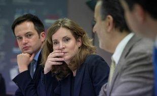 La candidate UMP à la Mairie de Paris, Nathalie Kosciusko-Morizet,lors d'un point presse le 13 novembre 2013.