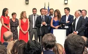 Emmanuel Macron s'est exprimé sur l'affaire Benalla devant devant son gouvernement et sa majorité parlementaire, le 24 juillet 2018.