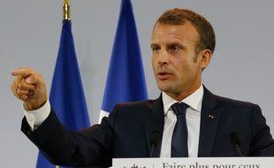 Le président Emmanuel Macron lors de son discours sur la pauvreté jeudi 13 septembre 2018. Mardi 18 septembre, le président fera cette fois des annonces pour transformer notre système de santé.