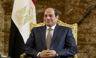 Le chef de l'Etat égyptien, Abdel Fattah al-Sissi, au Caire le 10 octobre 2015