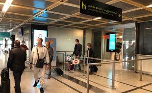 Arrivée des passagers en provenance de Lyon, lundi 8 juin 2020 à Nantes-Atlantique.