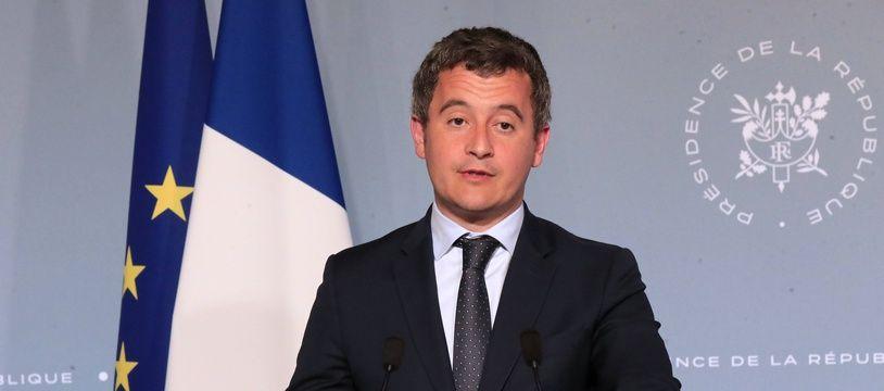 Le ministre de l'Action et des Comptes publics Gérald Darmanin, le 15 avril 2020 à Paris.