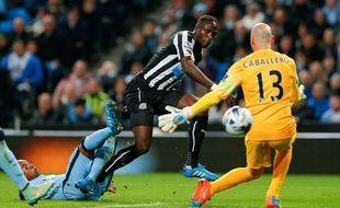 L'international français Moussa Sissoko a inscrit le deuxième but de Newcastle à Manchester City, le 29 octobre 2014 en Coupe de la Ligue anglaise.