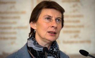 La secrétaire d'Etat à l'apprentissage, Clotilde Valter, au ministère du Travail à Paris, le 12 février 2016