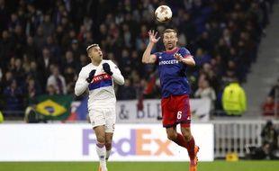 Mariano lors de Lyon-CSKA en 8e de finale retour de Ligue Europa, le 15 mars 2018.