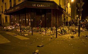 Un mouvement de panique s'est emparé de la foule qui rendait hommage aux victimes des attentats à Paris, le 15 novembre 2015.