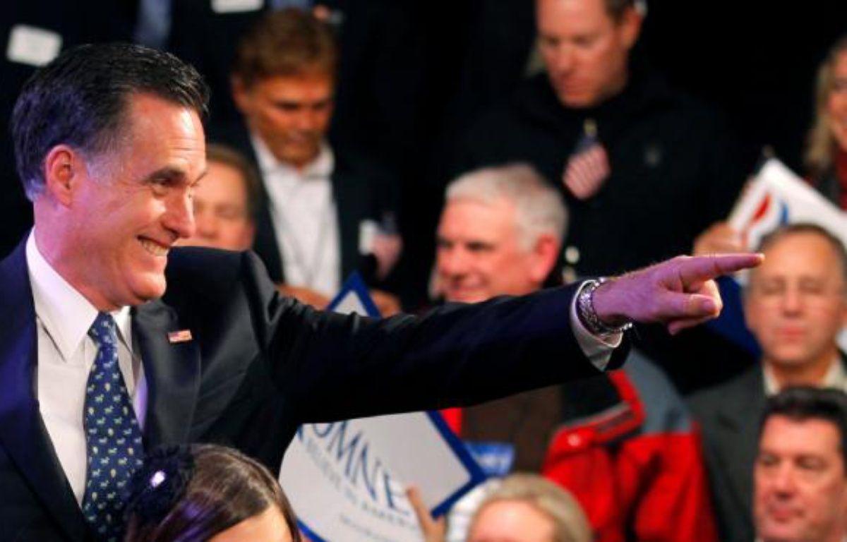 Le candidat Mitt Romney, après sa victoire dans la primaire du New Hampshire, le 10 janvier 2012. – D.SNYDER/REUTERS