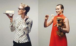 Amandine Chaignot et Delphine Depardieu, deux «filles à fromages» photographiées par Thomas Laisné.